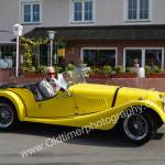 Morgan Plus 8 in yellow