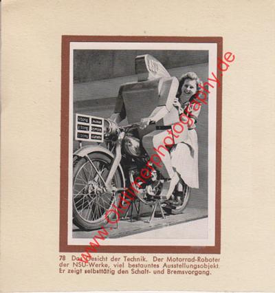 NSU Motorrad-Roboter Sammelblatt von 1952