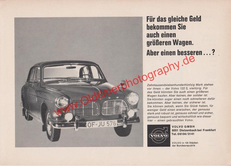 Volvo 122 S - Volvo Werbung aus Auto Katalog von 60er Jahre