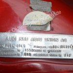 Audi 100 C1 Typenschild