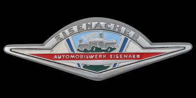 Logo Eisenacher Automobilwerk auf Wartburg 312