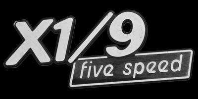 Logo FIAT X1/9 five speed 1972-1988