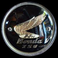 Logo Honda 250 auf Benzintank