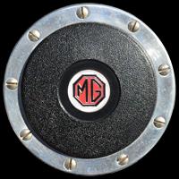 Logo MG A 1600 auf Moto-Lita Holzlenkrad