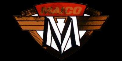 Logo Maico Motorrad Aufkleber auf Benzintank
