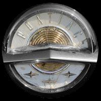 Logo Pontiac Chieftain Limousine von 1957 auf Motorhaube