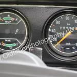 SAAB 96 mit Temperatur Tankinhalt und Geschwindigkeitsmesser