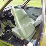 SAAB 96 mit grünen Sitzen aus Stoff und Kunststoffbezug