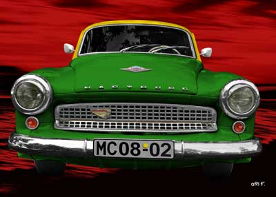 Wartburg 312 in green & red