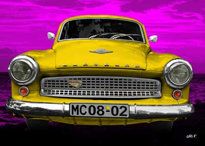 Wartburg 312 in yellow & pink
