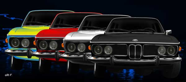 BMW 3.0 E9 in 4color view