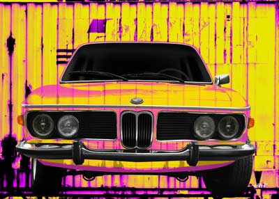 BMW 3.0 E9 in Neon Colors