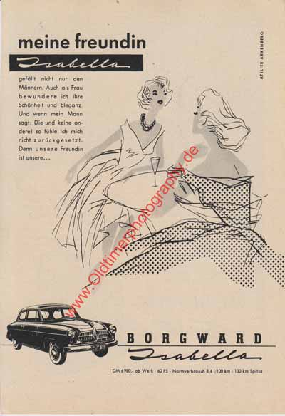 Borgward Isabella Advertising/Werbung