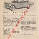 Fiat 1300 technische Daten 1961–1966 (Schwestermodell von Fiat 1500)