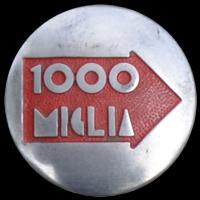 Plakette 1000 Miglia auf Porsche 356 A 1500 Super