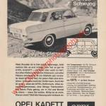 Opel Kadett A Werbung Advertisment 60er Jahre in Zeitung hobby