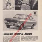 Opel Olympia A Werbung Advertising 1967/1968