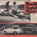 Polizei Porsche 356 A - Bericht aus Zeitung hobby von 1959 Seite 52-53