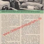 Polizei Porsche 356 A - Bericht aus Zeitung hobby von 1959 Seite 57