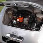 Porsche 356 A 1500 S mit 1488 cm³ mit 70 PS (51 kW) bei 5000 min unter der Motorhaube