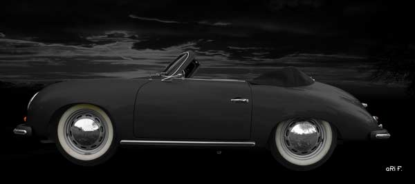 Porsche 356 A 1500 Super in black side view