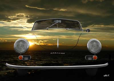 Porsche 356 A 1500 Super in sundowners with only chrome