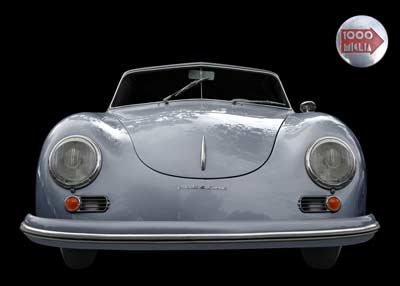 Porsche 356 A 1500 Super to the Mille Miglia Poster