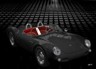 Porsche 550 Spyder in black
