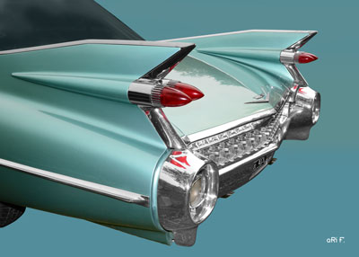 1959 Cadillac Serie 62 US-Klassiker Poster in original color