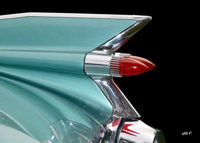 1959 Cadillac Serie 62 US-Klassiker in black & cyan