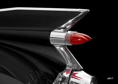 1959 Cadillac Serie 62 US-Klassiker in black & red tail lights Poster