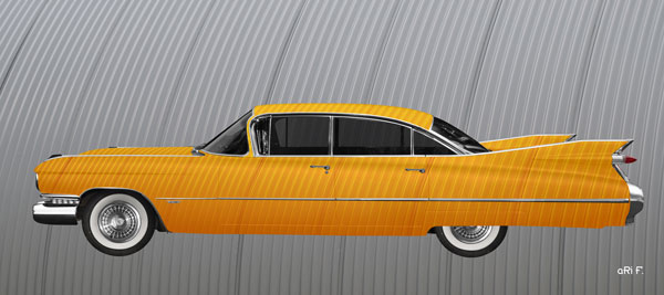 1959 Cadillac Serie 62 US-Klassiker in experimental yellow