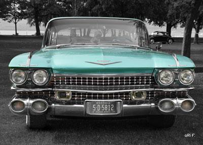 1959 Cadillac Serie 62 US-Klassiker in cyan (Originalfarbe)