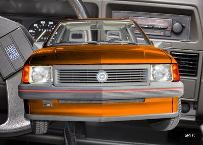 Opel Corsa A mit Interieur in orange