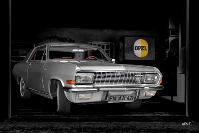 Opel Diplomat V8 Coupé Poster in Originalfarbe