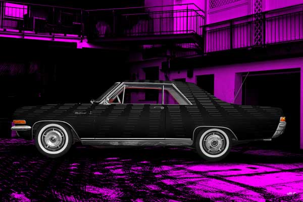 Opel Diplomat V8 Coupé in black-pink side view