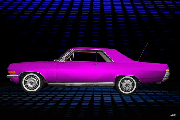 Opel Diplomat V8 Coupé Poster in pink side view