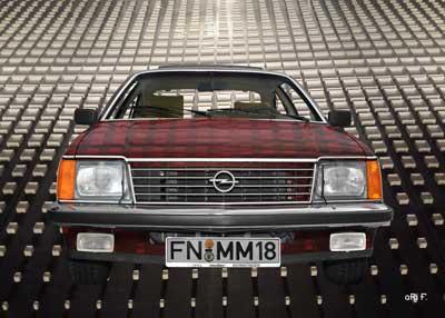 Opel Monza Art Car in red
