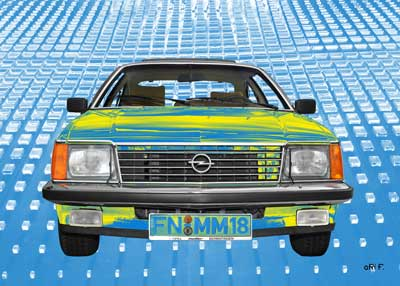 Opel Art Car in blue & yellow