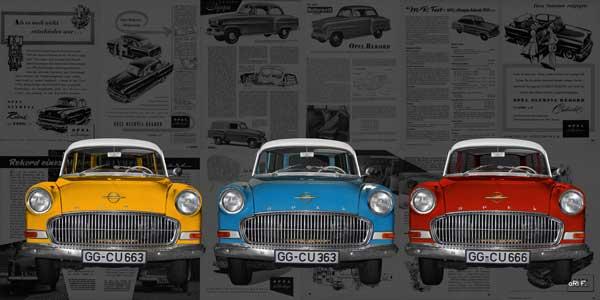 Opel Olympia Rekord Caravan & original historic Advertisment