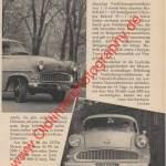 Opel Olympia Rekord Werbung Advertising von 1956 Seite 82