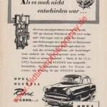 Opel Olympia Rekord Werbung in hobby von 1956 Seite 137