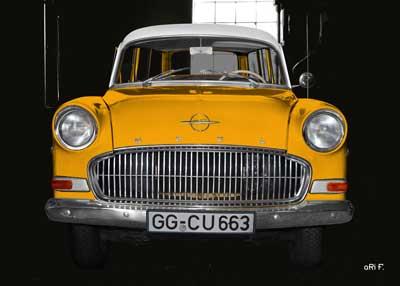 Opel Olympia Rekord Caravan in black & yellow