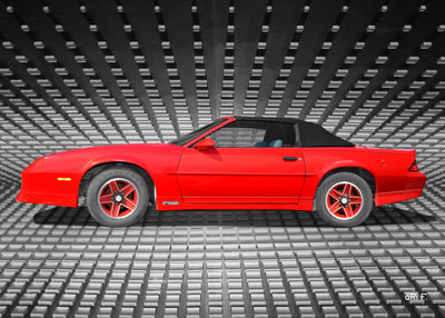 Chevrolet Camaro in red (Originalfarbe) Poster