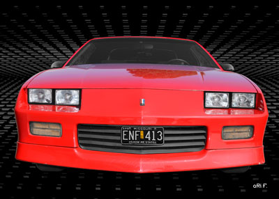 Chevrolet Camaro Poster in Originalfarbe