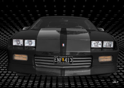 Chevrolet Camaro in black 3. Generation
