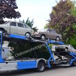 VW-Sammeltransport mit Typ 3, VW 411 und Karmann Ghia Typ 14