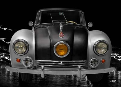 Tatra 87 Poster in black & silver (Originalfarbe)
