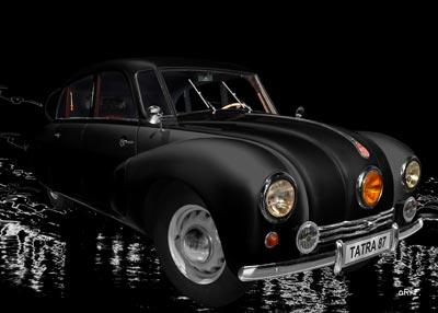 Tatra 87 Poster  in black & black