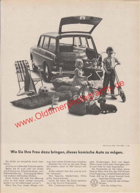 VW Variant 1600 Werbung in Moto-Rundschau 6/1966